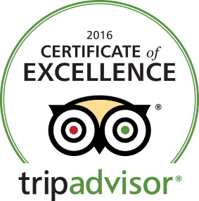 2016 Certificate of Excellence tripadvisor.com